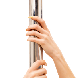 hands and pole
